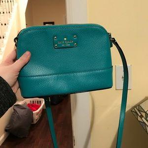 Kate Spade cross body turquoise bag